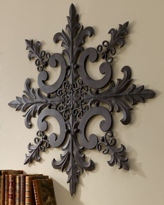 Iron & Tole Wall Medallion traditional artwork