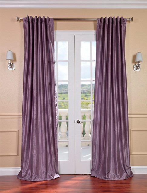 Sheer Plum Curtains Smokey plum vintage textured