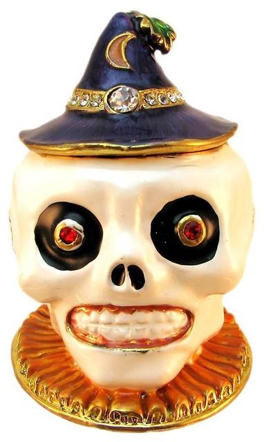 Mardi Gras Voodoo Skull Trinket Box Curio contemporary-storage-bins-and-boxes