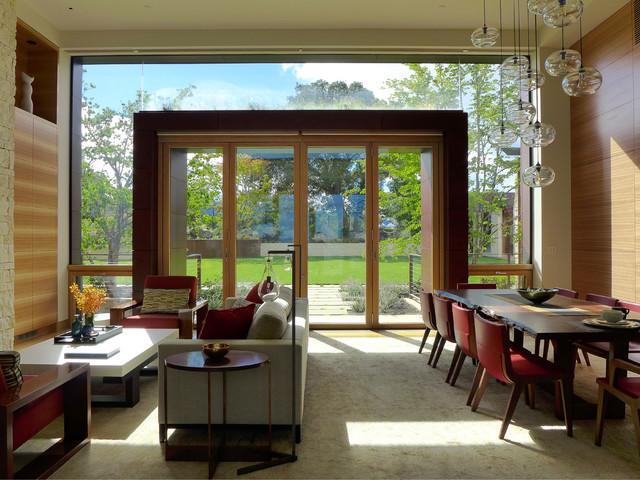 Saratoga Rolling Hills Estate contemporary-living-room
