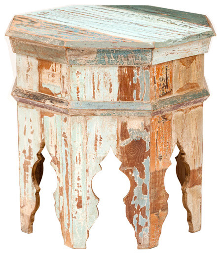 Vintage Octagonal Stool eclectic-side-tables-and-end-tables