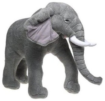 elephant plush stuffed animal modern baby and toddler toys by buy. Black Bedroom Furniture Sets. Home Design Ideas