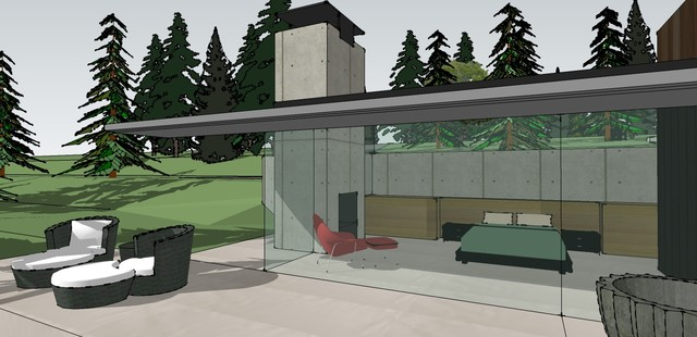 Retirement Home contemporary-rendering