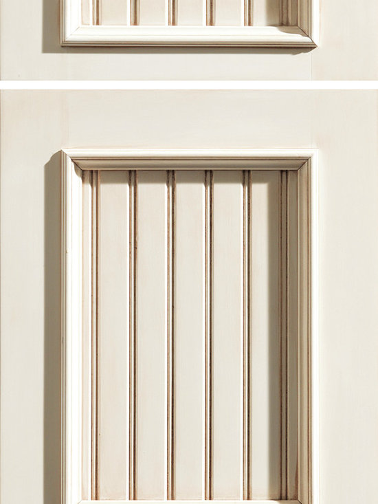 """Dura Supreme Cabinetry - Dura Supreme Cabinetry Vintage Panel Cabinet Door Style - Dura Supreme Cabinetry """"Vintage Panel"""" cabinet door style in Paintable shown with Dura Supreme's """"White"""" paint with """"Espresso"""" Glaze finish."""