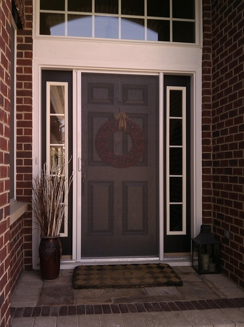 Mirage retractable door screens entry doors for Screened front entry