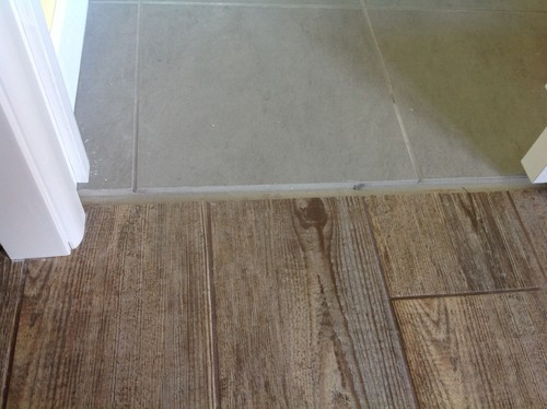 To Grey Tiles Floor Transition Tile To Wood Floor Transition Idea ...