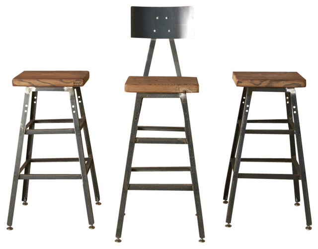 """The Boston Barstool With Steel Back, 18"""" contemporary-bar-stools-and-counter-stools"""