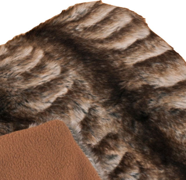 Faux Fur Animal 50 x 60 Throw contemporary-throws