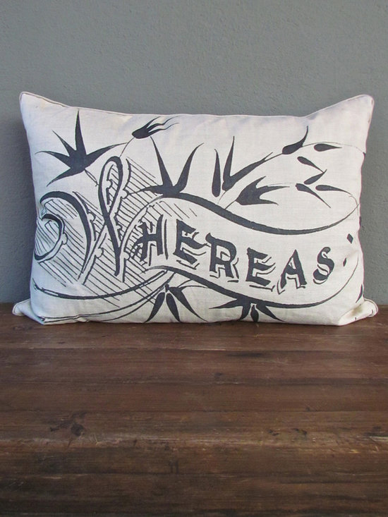 whereas pillow - view this item on our website for more information + purchasing availability: http://redinfred.com/shop/category/free-shipping/whereas-pillow/
