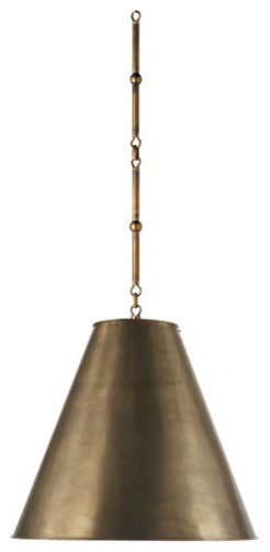 Medium Goodman Hanging Light in Hand-Rubbed Antique Brass modern ceiling lighting