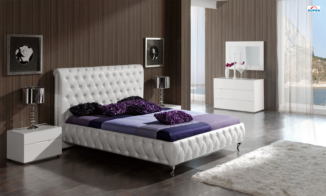 Stylish Leather Luxury Elite Bedroom Furniture