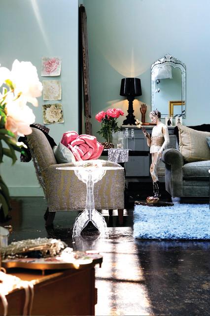 Parisian style loft living eclectic living room - Parisian interior design style ...