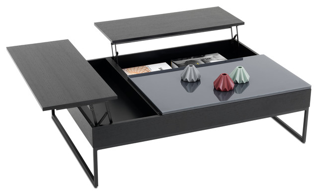 chiva functional coffee table with storage contemporary. Black Bedroom Furniture Sets. Home Design Ideas