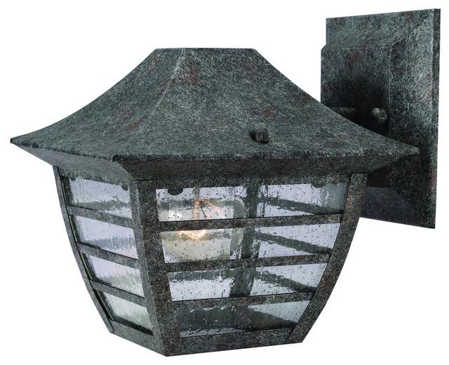 Antique Silver Outdoor Patio / Porch Exterior Light Fixture traditional-outdoor-lighting