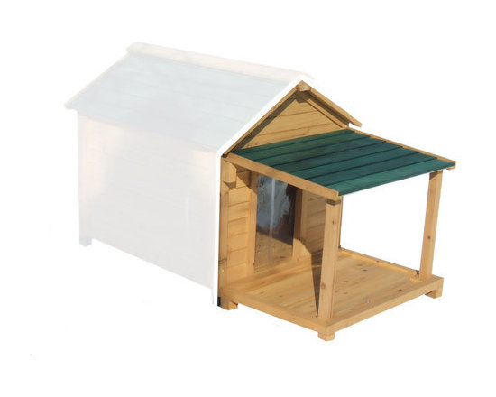 """Premium Pet - Porch and Deck ONLY for Insulated Dog Houses - Features: -Porch and Deck ONLY - Dog House Sold Separately!. -Natural finish. -Available in 4 sizes. -Beautiful addition to any back yard. -Solid tongue and groove cedar wood . -All terrain plastic adjustable feet for a true level home for your pet. -All necessary hardware including screw covers are included. -Solid tongue and groove cedar wood is naturally rot and insect resistant. -Each wall panel is pre-assembled with all weather galvanized screws for added strength. -Optional available porch and deck for added comfort and protection from the elements. -Assembly time is less than 25 minutes. Specifications: -Small: 12"""" H x 17"""" W x 25"""" D. -Medium: 18"""" H x 20"""" W x 28"""" D. -Large: 20.25"""" H x 25"""" W x 32"""" D. -Extra Large: 23.25"""" H x 32"""" W x 39"""" D."""