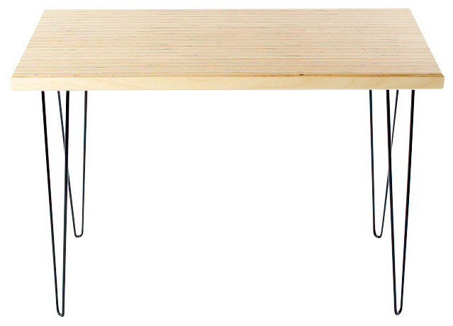 Laminated baltic birch console table with hairpin legs for Plywood table hairpin legs