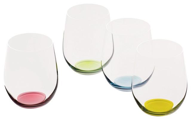 Riedel Happy O Glasses, Set of 4 contemporary-wine-glasses