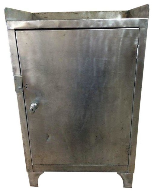 Vintage Industrial Steel Cabinet - Refinished - Industrial - Accent Chests And Cabinets
