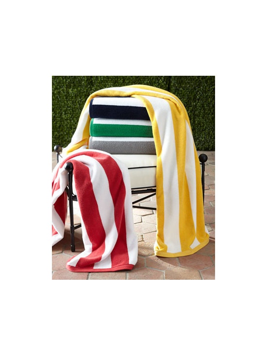 "Kassatex - Kassatex Cabana Stripe Beach Towel - This thirsty beach towel in classic stripes is ready for summer after summer of fun. Choose a different color for each member of the family and you're all set! Made of long-staple Turkish cotton. Select color when ordering. Machine wash. 40"" x 70""....."
