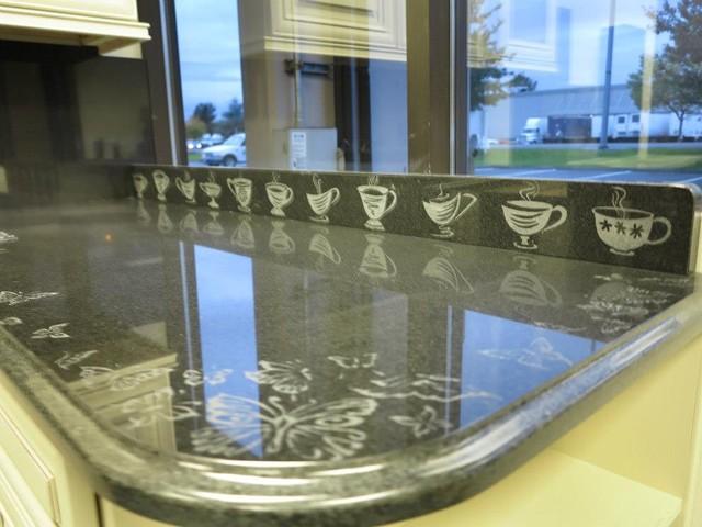 Engraved Granit artwork