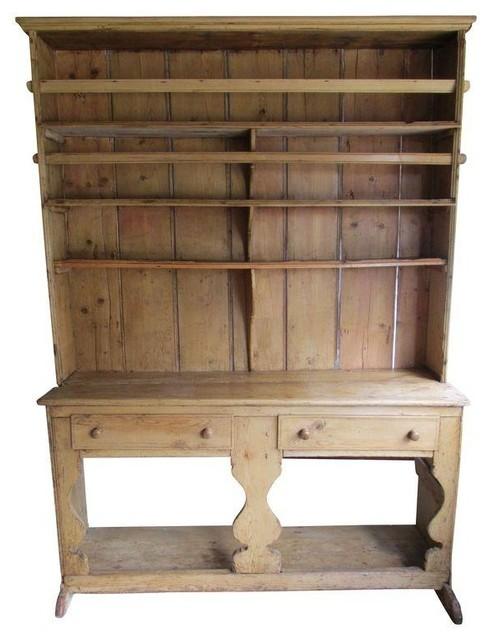 Used Antique Irish Pine Hutch - Farmhouse - Storage Cabinets - by Chairish
