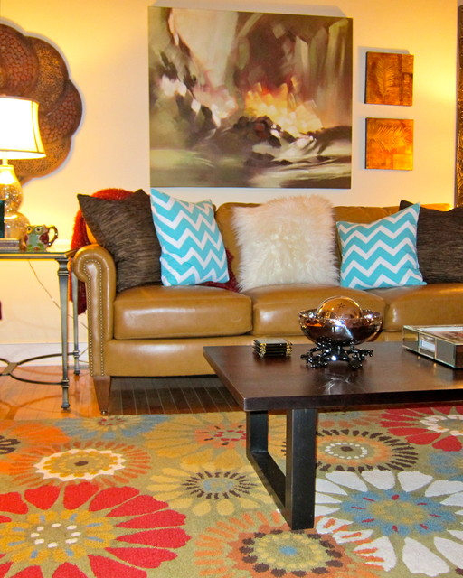 Living Room eclectic-decorative-pillows
