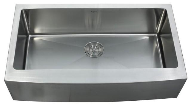 Kraus KHF200-36 36 inch Farmhouse Single Bowl 16 Guage Stainless Steel Sink modern-kitchen-sinks
