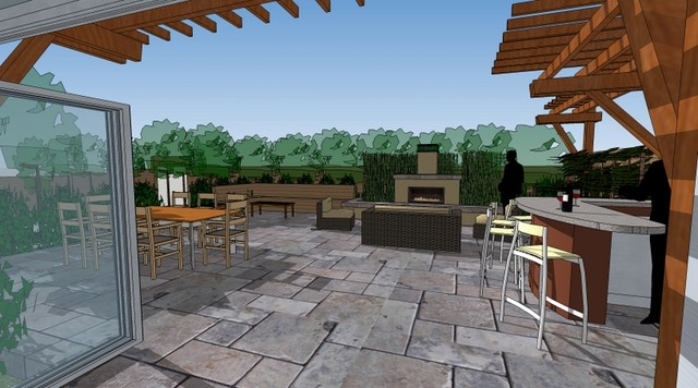 Design Sketches for Mill Valley Outdoor Room contemporary