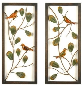 Bird Panel, Set of 2 eclectic artwork