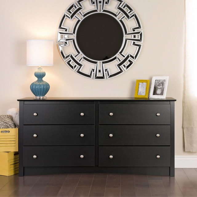 Broadway Black 6-drawer Dresser contemporary-dressers-chests-and-bedroom-armoires