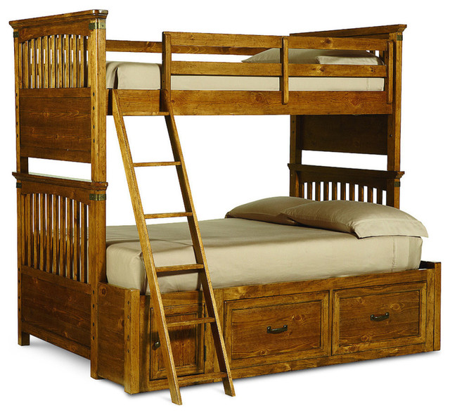 Legacy Classic Kids Bryce Canyon Twin over Full Bunk Bed with Underbed Storage traditional-furniture