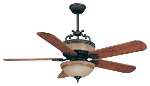 Ellington MAL56ABZ5CRW Mallory 56 in. Indoor Ceiling Fan - Aged Bronze contemporary-ceiling-fans