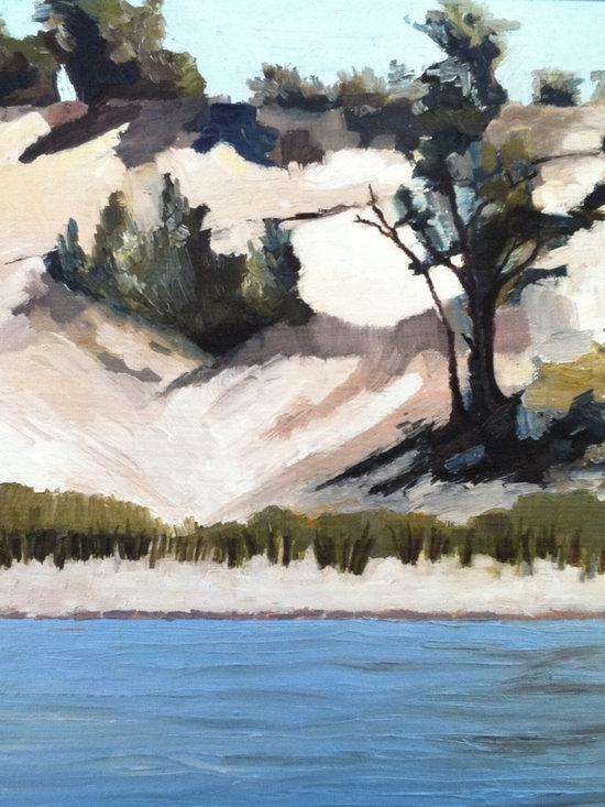 Lake Michigan Dune with Trees -