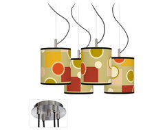 Art Deco Retro Citrus Medley Luxe 4-Light Multi Light Pendant contemporary lamp shades