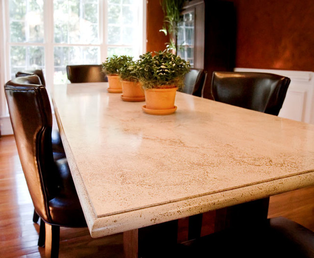 Concrete Dining Room Table Traditional Dining Tables Richmond
