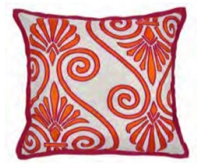 Mandara Orange pillow decorative-pillows