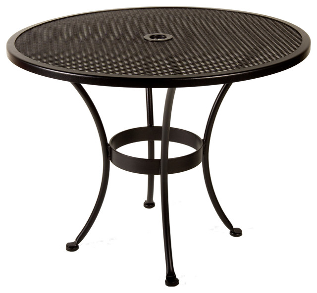 Bistro 36Rd Mesh Dining Table With 2 Umbrella Hole