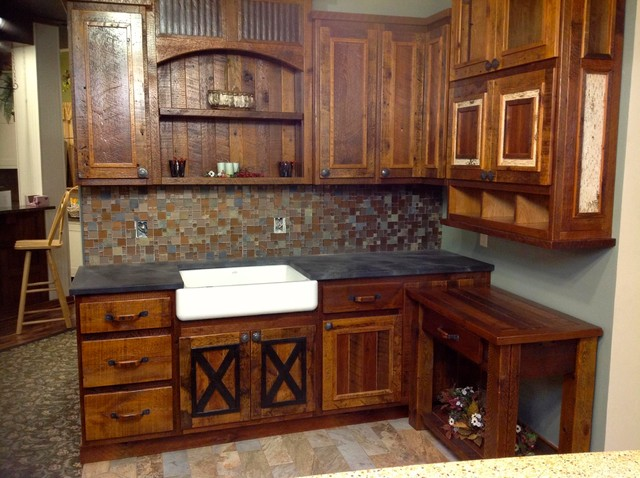 Barnwood Cabinets rustic-kitchen-cabinetry