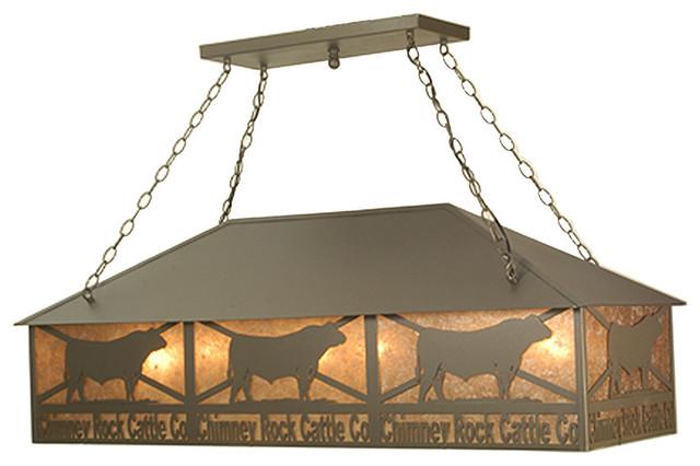 "Meyda Lighting 77924 50""L Personalized Chimney Rock Oblong Pendant traditional-pendant-lighting"