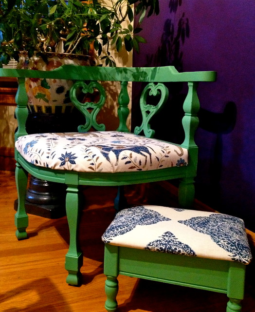 Recycled Treasures eclectic-living-room-chairs