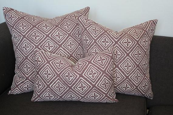 FIORENTINA Pale Prune by Aurelia contemporary-decorative-pillows