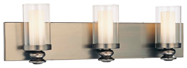 "Contemporary Minka Lavery Harvard Court 23 3/4"" WIde Bath Wall Light contemporary-bathroom-lighting-and-vanity-lighting"