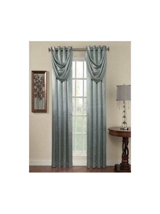 Anastasia - A satin-look blackout panel that is energy-efficient. Grommet top adds a modern touch for any room