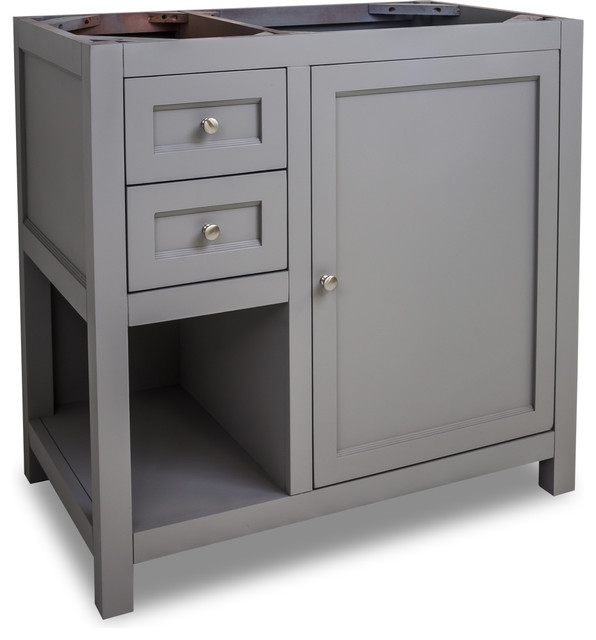 Van103 36 jeffrey alexander vanity in grey contemporary - Jeffrey alexander bathroom vanities ...