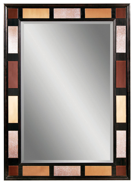 Espresso Copper Bronze Rectangle Wall Mirror