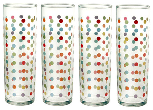 Polka Dot Glasses traditional-everyday-glassware
