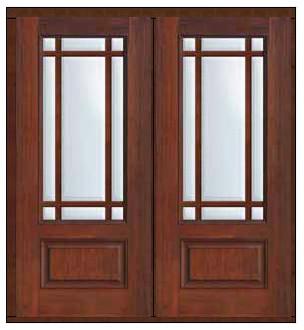Prehung French Double Door 80 Fiberglass Marginal 9 Lite Marginal Arts Crafts Patio Doors