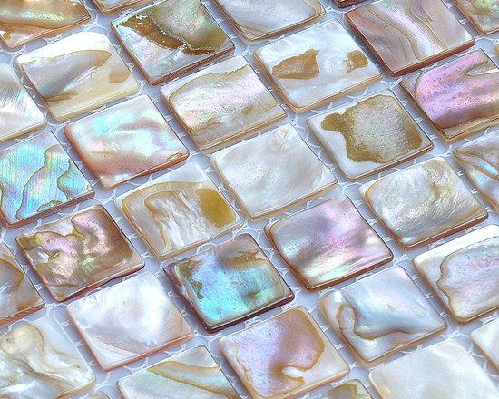 shell tile mother of pearl tiles bathroom wall tile seashell kitchen backsplash - Brand Name:  FIFYH