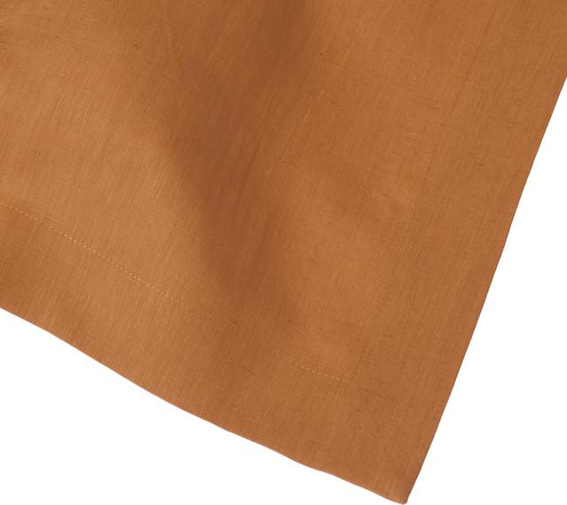 """Bronze Linen Tablecloth, 66""""x108"""" contemporary-tablecloths"""