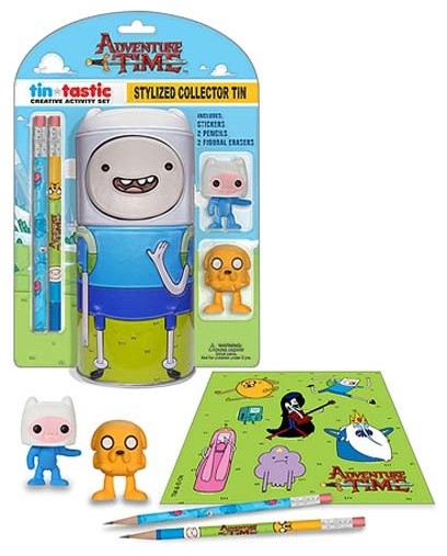 Adventure Time Finn Tin pencil set contemporary-kids-toys-and-games